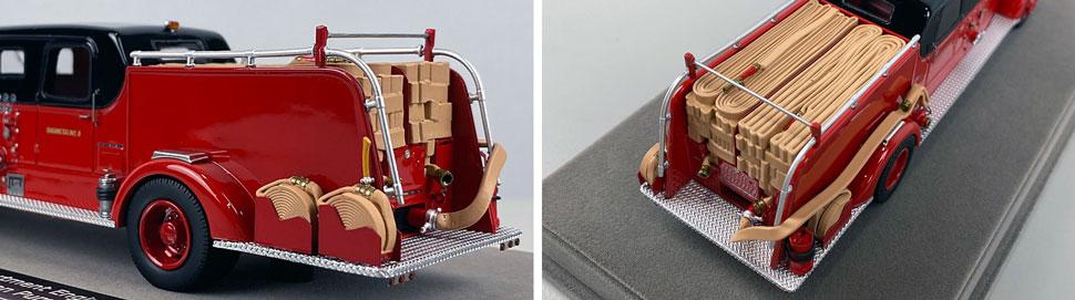 Closeup pics 7-8 of Chicago Fire Department 1948 Mack L Sedan Cab Engine 5 scale model