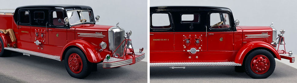 Closeup pics 13-14 of Chicago Fire Department 1948 Mack L Sedan Cab Engine 5 scale model