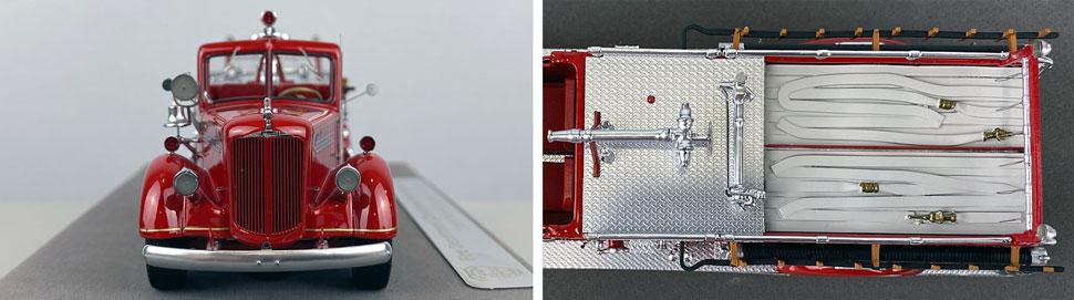 Closeup pics 1-2 of FDNY Mack L Pumper Engine 203 scale model