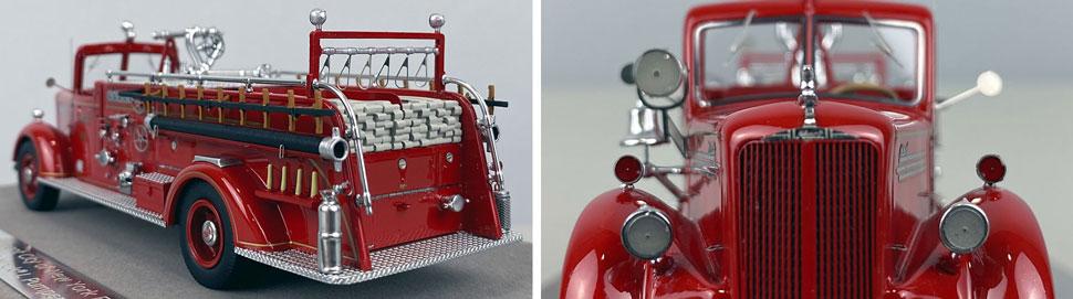 Closeup pics 7-8 of FDNY Mack L Pumper Engine 203 scale model