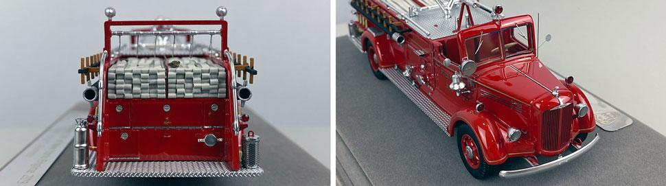Closeup pics 9-10 of FDNY Mack L Pumper Engine 203 scale model