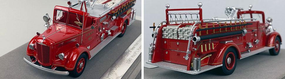 Closeup pics 11-12 of FDNY Mack L Pumper Engine 203 scale model