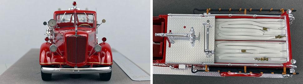 Closeup pics 11-12 of FDNY Mack L Pumper Engine 289 scale model