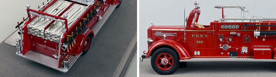 Closeup pics 9-10 of FDNY Mack L Pumper Engine 289 scale model