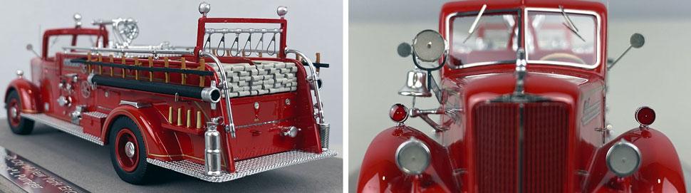 Closeup pics 7-8 of FDNY Mack L Pumper Engine 289 scale model