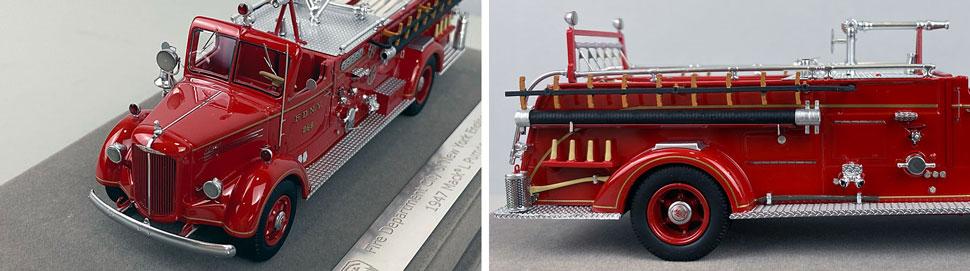 Closeup pics 1-2 of FDNY Mack L Pumper Engine 289 scale model