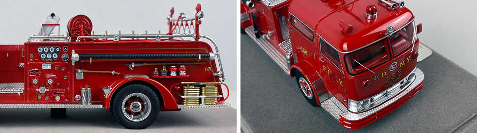 Close up images 3-4 of FDNY 1958 Mack C Engine 156 scale model