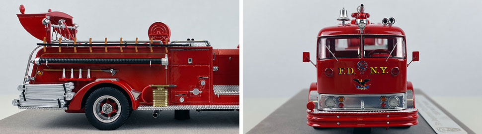Close up images 11-12 of FDNY 1958 Mack C Engine 270 scale model