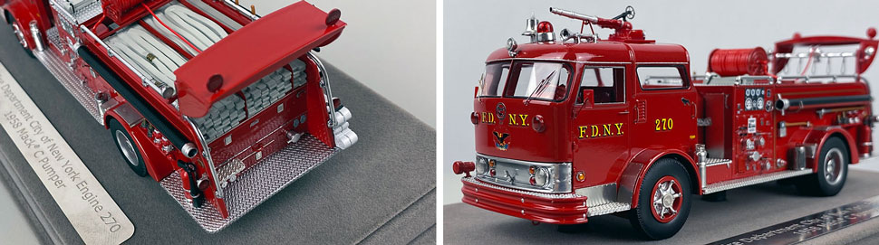 Close up images 9-10 of FDNY 1958 Mack C Engine 270 scale model