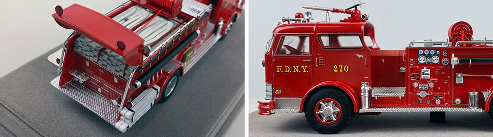 Close up images 7-8 of FDNY 1958 Mack C Engine 270 scale model