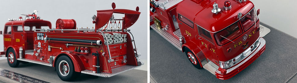 Close up images 5-6 of FDNY 1958 Mack C Engine 270 scale model