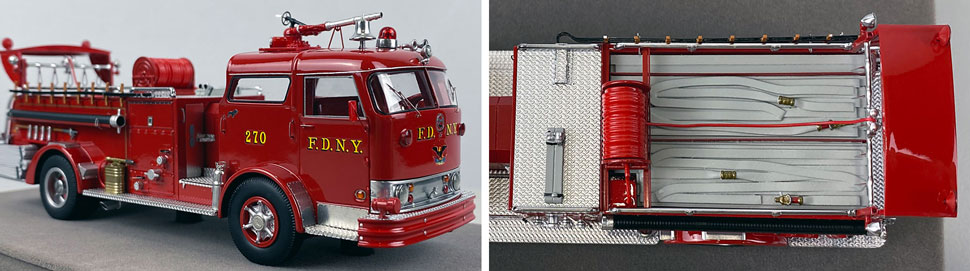 Close up images 3-4 of FDNY 1958 Mack C Engine 270 scale model