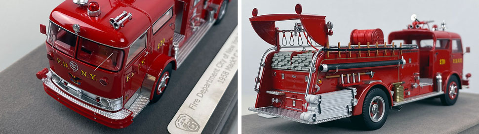 Close up images 1-2 of FDNY 1958 Mack C Engine 270 scale model