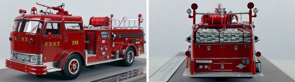 Close up images 7-8 of FDNY 1958 Mack C Engine 283 scale model