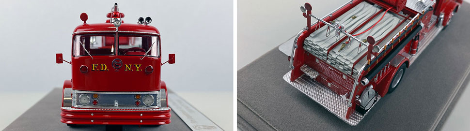 Close up images 5-6 of FDNY 1958 Mack C Engine 283 scale model