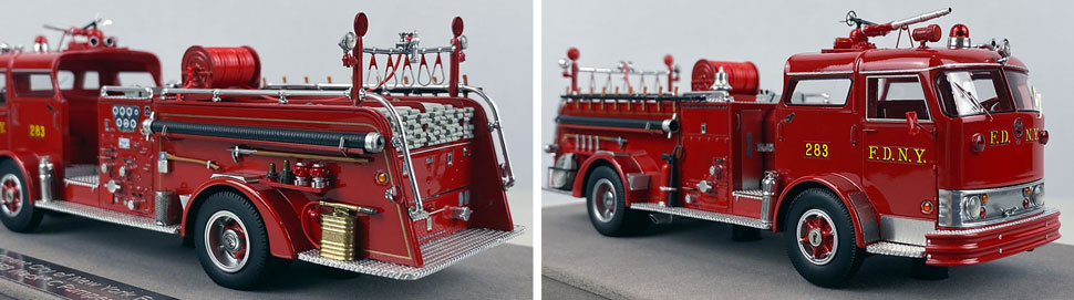 Close up images 3-4 of FDNY 1958 Mack C Engine 283 scale model