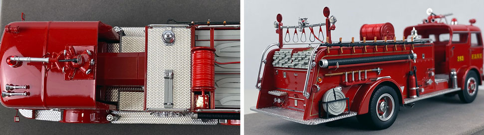 Close up images 9-10 of FDNY 1958 Mack C Engine 283 scale model
