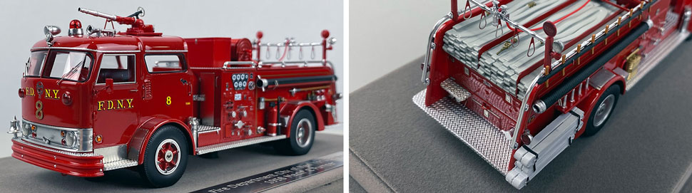 Close up images 9-10 of FDNY 1958 Mack C Engine 8 scale model