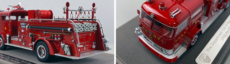 Close up images 5-6 of FDNY 1958 Mack C Engine 8 scale model
