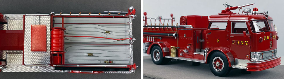 Close up images 3-4 of FDNY 1958 Mack C Engine 8 scale model