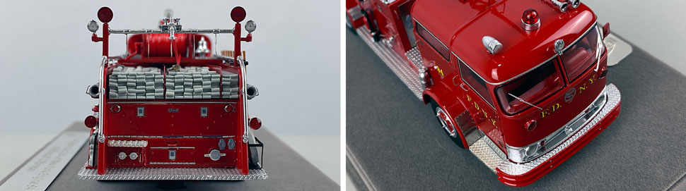 Close up images 13-14 of FDNY 1958 Mack C Engine 94 scale model