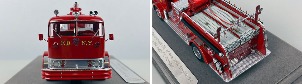 Close up images 11-12 of FDNY 1958 Mack C Engine 94 scale model