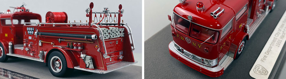 Close up images 5-6 of FDNY 1958 Mack C Engine 94 scale model