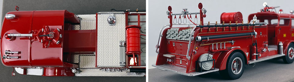 Close up images 3-4 of FDNY 1958 Mack C Engine 94 scale model
