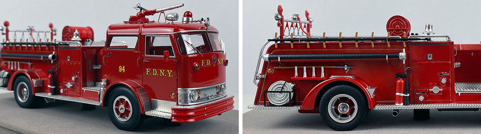 Close up images 1-2 of FDNY 1958 Mack C Engine 94 scale model