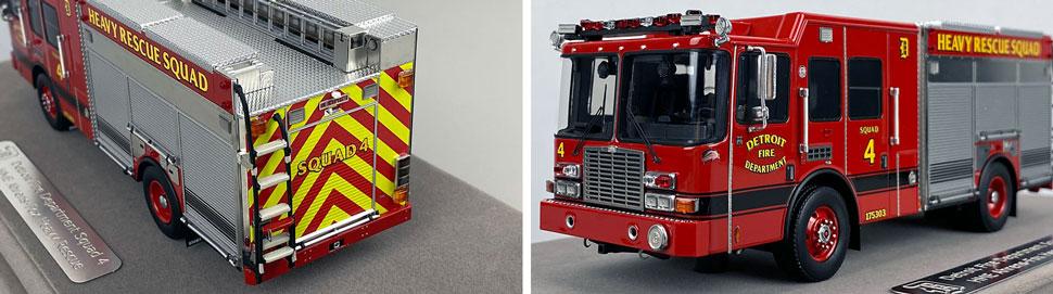 Closeup pics 3-4 of Detroit Fire Department HME Heavy Rescue Squad 4 scale model