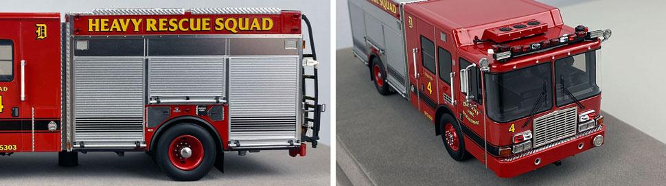 Closeup pics 5-6 of Detroit Fire Department HME Heavy Rescue Squad 4 scale model
