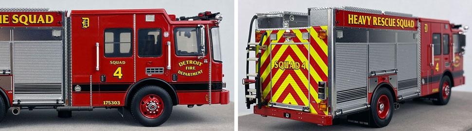 Closeup pics 11-12 of Detroit Fire Department HME Heavy Rescue Squad 4 scale model