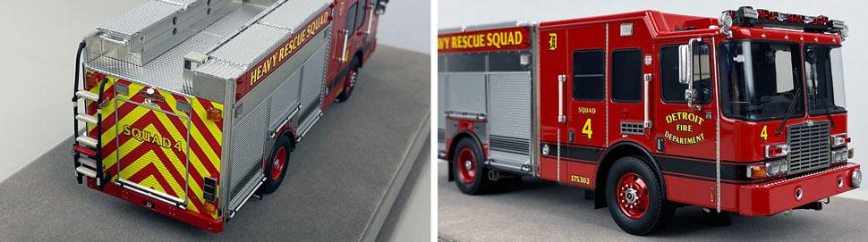 Closeup pics 1-2 of Detroit Fire Department HME Heavy Rescue Squad 4 scale model