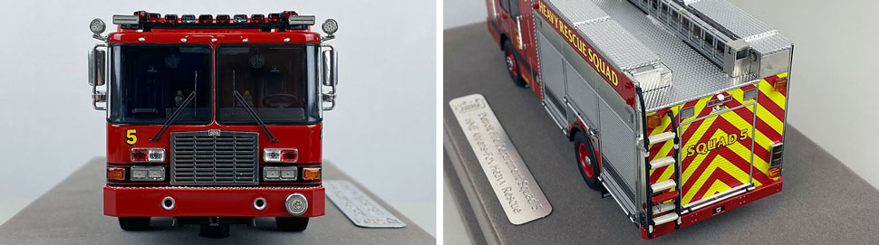 Closeup pics 1-2 of Detroit Fire Department HME Heavy Rescue Squad 5 scale model