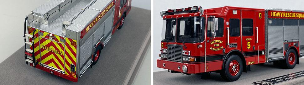 Closeup pics 3-4 of Detroit Fire Department HME Heavy Rescue Squad 5 scale model