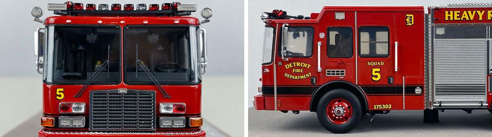 Closeup pics 5-6 of Detroit Fire Department HME Heavy Rescue Squad 5 scale model