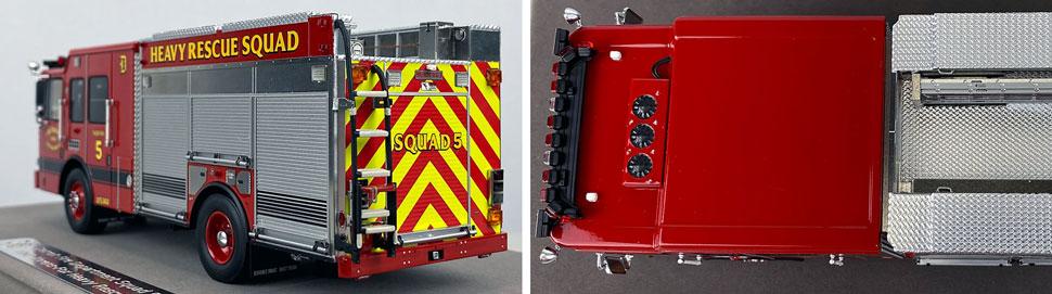 Closeup pics 7-8 of Detroit Fire Department HME Heavy Rescue Squad 5 scale model