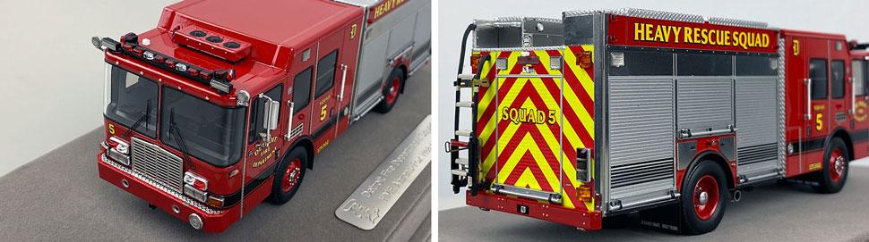 Closeup pics 11-12 of Detroit Fire Department HME Heavy Rescue Squad 5 scale model