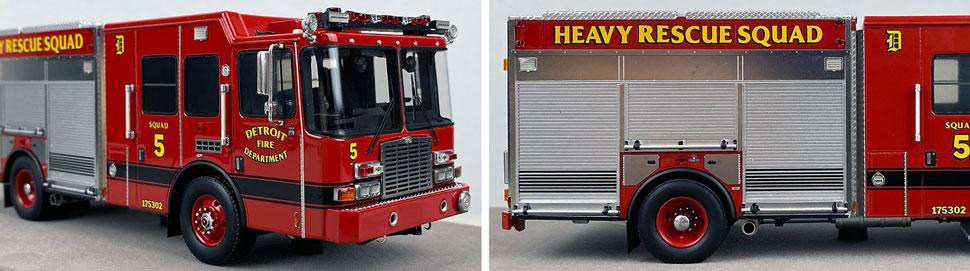 Closeup pics 13-14 of Detroit Fire Department HME Heavy Rescue Squad 5 scale model