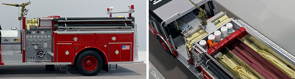 Close up images 11-12 of Chicago E-One Hurricane Engine 112 scale model
