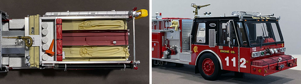 Close up images 13-14 of Chicago E-One Hurricane Engine 112 scale model