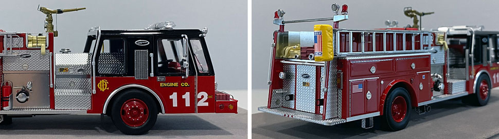 Close up images 7-8 of Chicago E-One Hurricane Engine 112 scale model