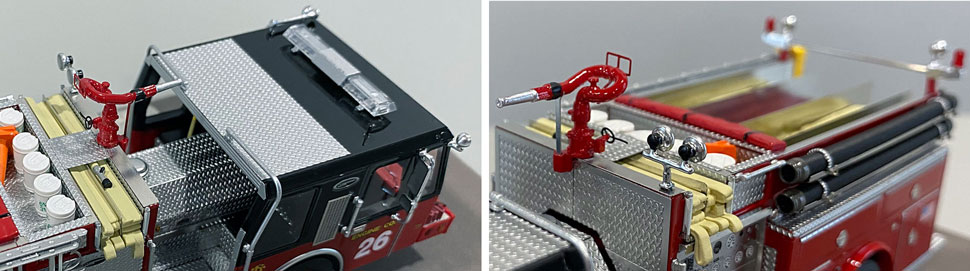 Close up images 5-6 of Chicago E-One Hurricane Engine 26 scale model