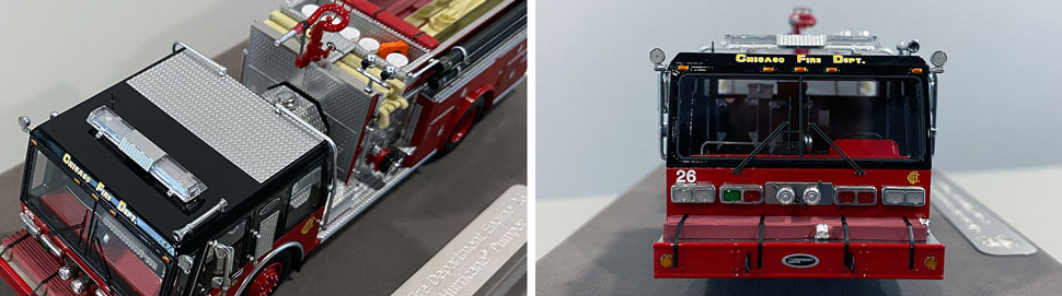 Close up images 1-2 of Chicago E-One Hurricane Engine 26 scale model