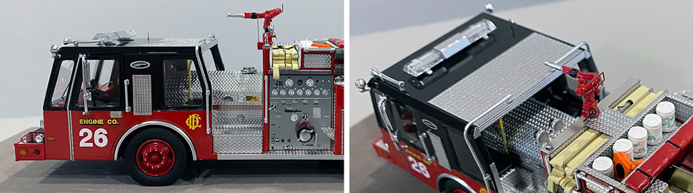 Close up images 9-10 of Chicago E-One Hurricane Engine 26 scale model