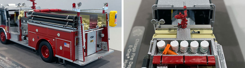 Close up images 11-12 of Chicago E-One Hurricane Engine 26 scale model