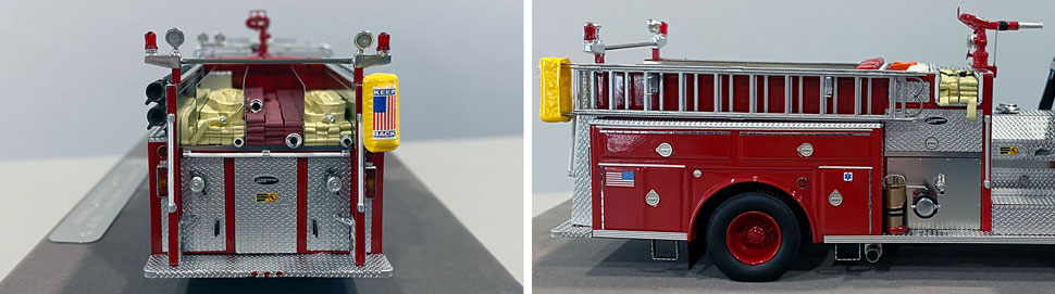 Close up images 13-14 of Chicago E-One Hurricane Engine 26 scale model