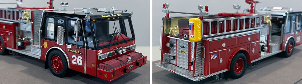 Close up images 3-4 of Chicago E-One Hurricane Engine 26 scale model