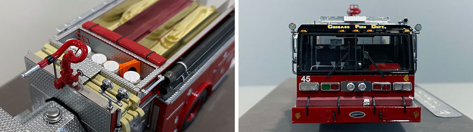 Close up images 5-6 of Chicago E-One Hurricane Engine 45 scale model