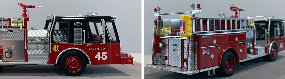 Close up images 13-14 of Chicago E-One Hurricane Engine 45 scale model